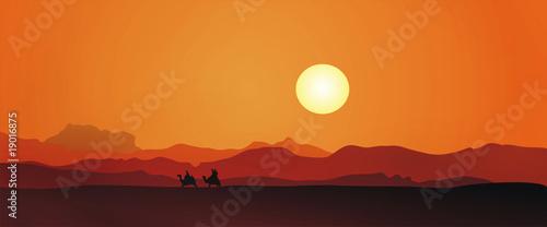 Keuken foto achterwand Oranje eclat Egypt sunset