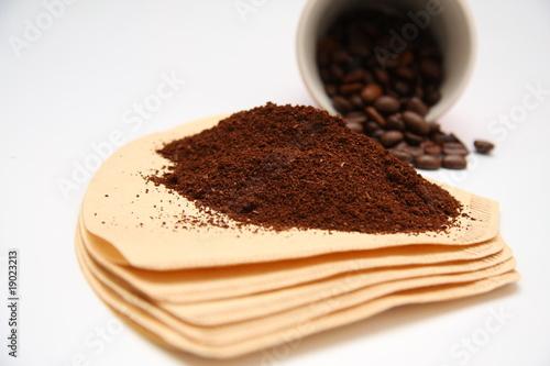 Wall Murals Coffee beans filtre