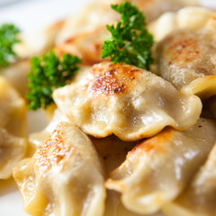 Fototapeta Do gastronomi Pierogi.Polish christmas dish