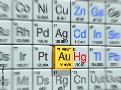 aurum @periodic table Canvas Print
