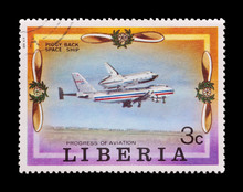 Mail Stamp Featuring The Space Shuttle Piggyback Ride