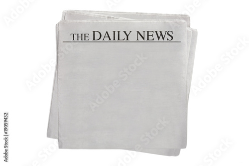 Fotografie, Obraz  blank newspaper The Daily News (clipping path included)