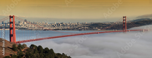 photo of the golden gate bridge at evening