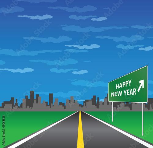 Fototapeta happy new year obraz na płótnie