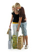 Man and woman on shoppings.