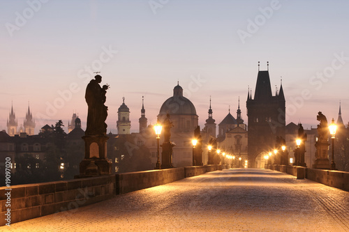 Obraz prague charles bridge - fototapety do salonu
