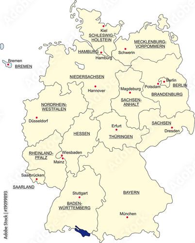 Karte Bundesrepublik Deutschland Bremen Freigestellt Buy This