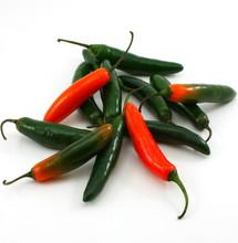 Bunch Of Serrano Peppers, Caps...