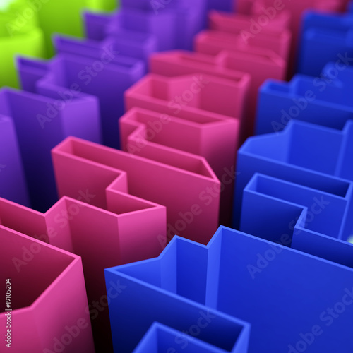 varicoloured acute angled abstraction as a background