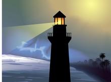 Digital Painting Of Light House