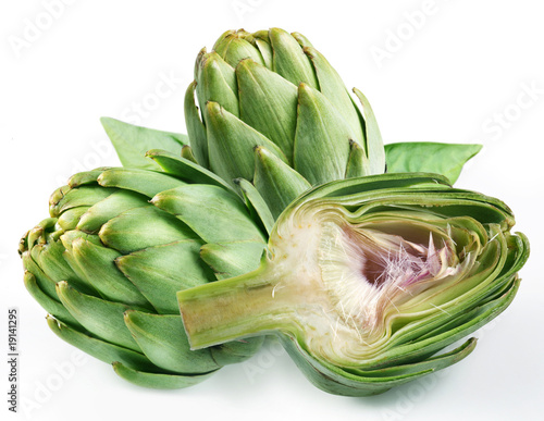 Photo Artichoke on a white background
