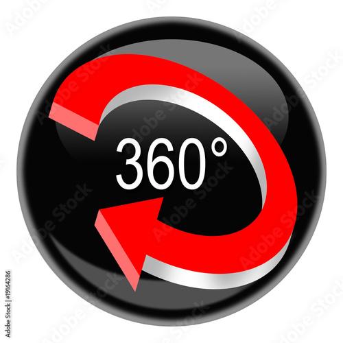 Fotografia  Button 360° black