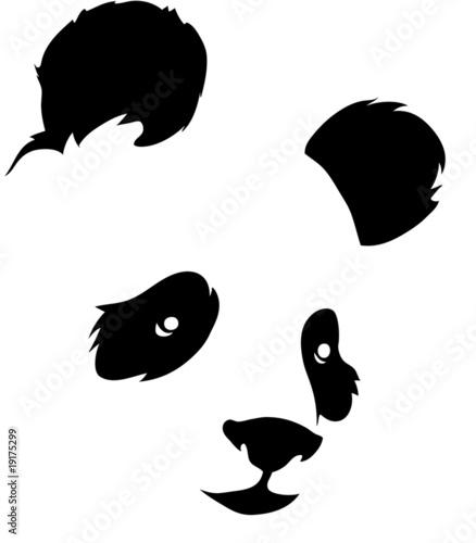 Photo  Design of a panda