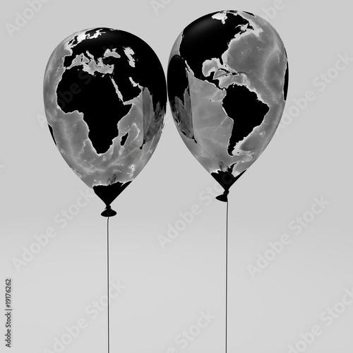 Staande foto Wereldkaart Weltklima und Umwelt