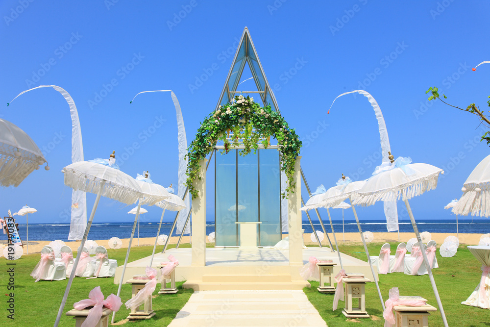 Fototapety, obrazy: wedding chapel by the sea