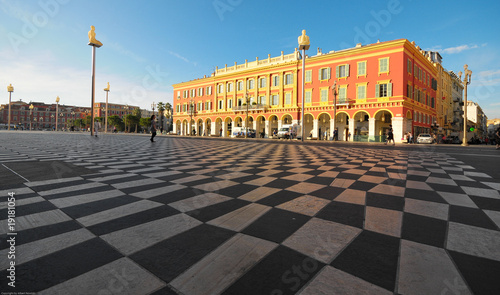 Tuinposter Nice plaza Massena Square in the city of Nice, France