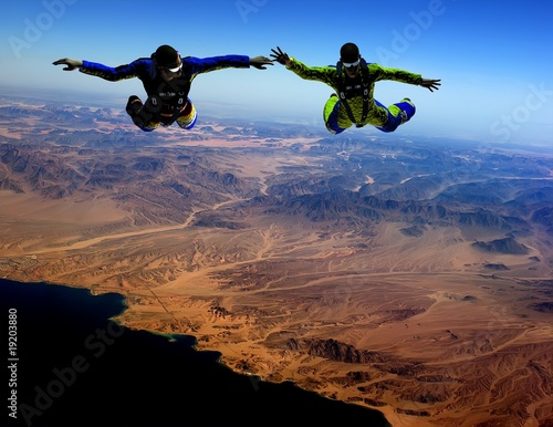 Photo sur Toile Aerien Sport is in sky