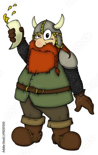 Foto-Stoff - Wikinger, Zwerg, betrunken, Viking, Dwarf, drunk (von Hans-Jürgen Krahl)