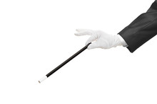 Hand Holding A Magic Wand Isol...