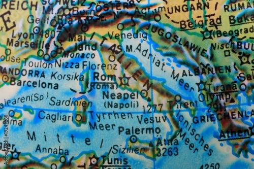 Rom Italien Mittelmeer Globus Landkarte Buy This Stock Photo And