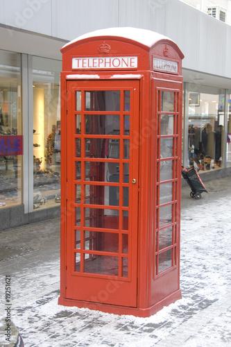 Britische Telefonzelle Poster