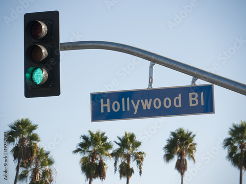 Fotografie, Obraz  Hollywood Blvd Sign