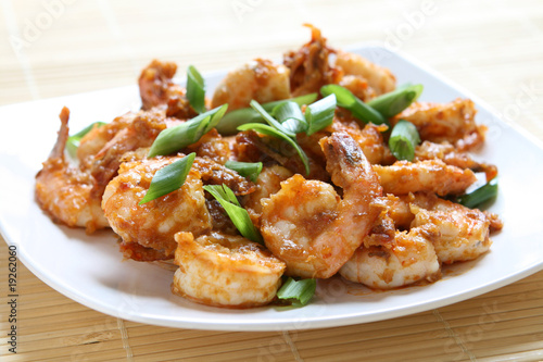 Sichuan Shrimp Canvas Print