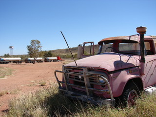 Australian Road Train - Old and New