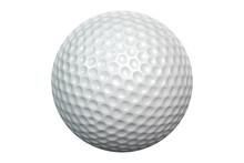 White Golf Ball Isolated Including Clipping Path