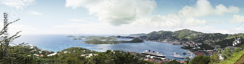 Aerial panoramic view of the St Thomas