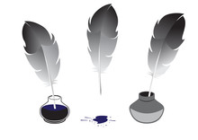Feather And Inkwells