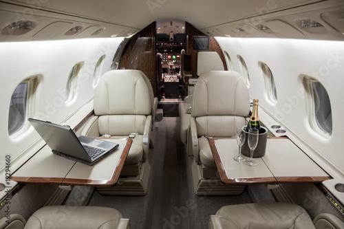 Stampa su Tela Business Jet Interior