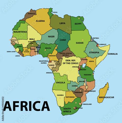 Carte De Lafrique Map.Carte De L Afrique Africa Map Buy This Stock Vector And