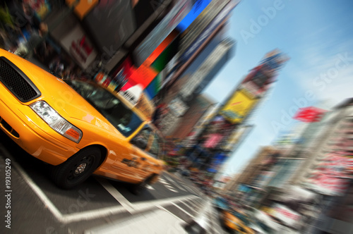 Photo sur Aluminium New York TAXI New York City Taxi, Times Square