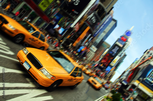 Deurstickers New York TAXI New York City Taxi, Times Square