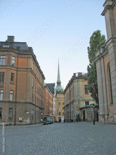 Staande foto Stockholm Street in Gamla Stan (Stockholm)
