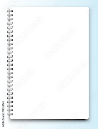 Fotografie, Tablou  Vector blank notebook isolated on white