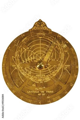 Astrolabe planisphérique Canvas Print