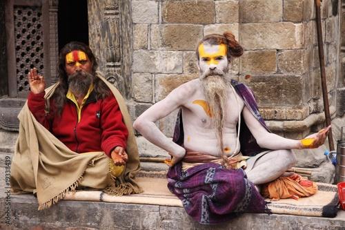 portrait de babas sadhu à Katmandou Slika na platnu
