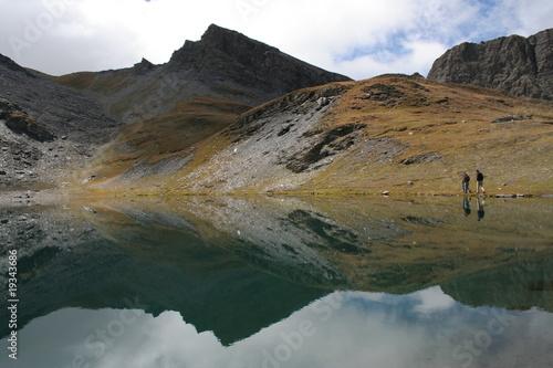 Poster Reflexion riflesso del lago
