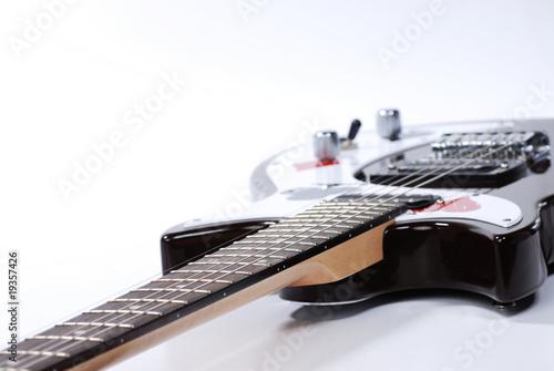 Türaufkleber UFO black and white guitar