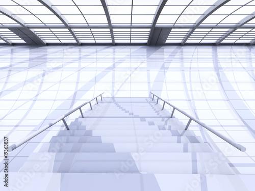 Foto op Plexiglas Trappen Hallway Architecture