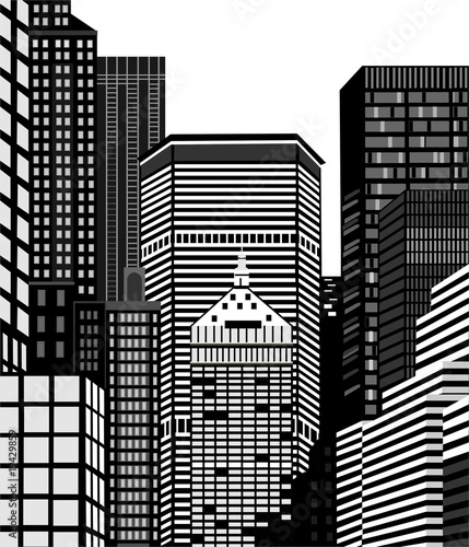Fototapeta Nowy Jork wieżowce obraz