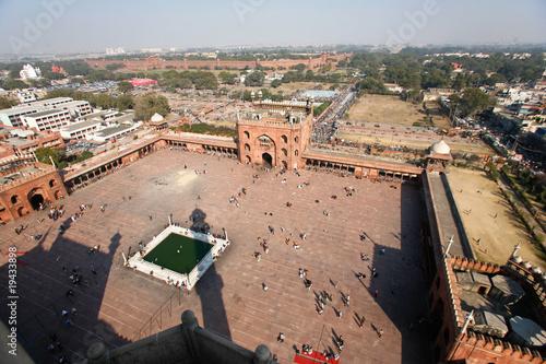 Stickers pour porte Delhi Jama Masjid Mosque
