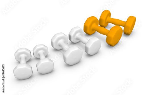 Obraz Hantle - Sprzęt do ćwiczeń siłowych - fototapety do salonu
