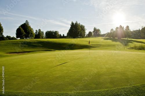 Poster Golf sonniger Golfplatz