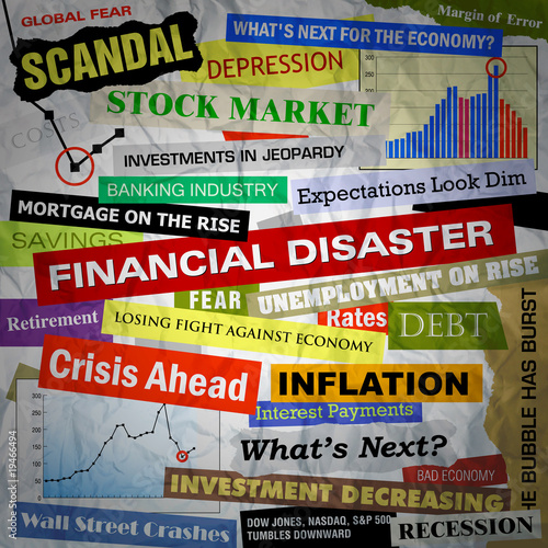 Photo  Business Financial Disaster Headlines