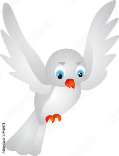 Poster Oiseaux, Abeilles Dove vector