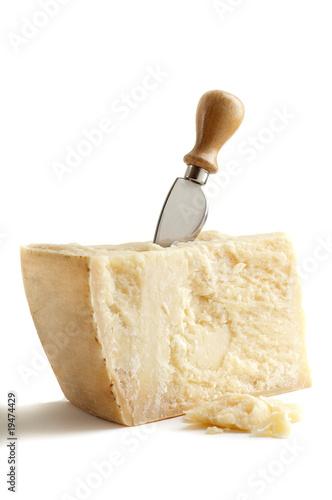 Fotografie, Obraz  formaggio grana con coltello