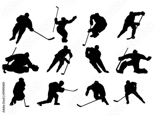 Ice Hockey vector Wallpaper Mural